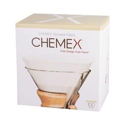 Chemex | filtry papierowe białe okrągłe 100 szt.