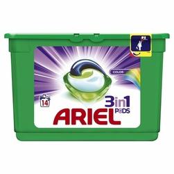 Ariel, Active Gel, Color 3w1, kapsułki do prania tkanin kolorowych, 14 sztuk