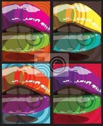 Plakat piękna kobieta usta ilustracji