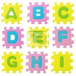 Naklejka alfabet puzzle