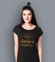 Królowa wszystkiego t-shirt damski czarny xs