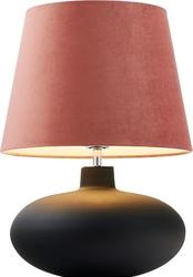 Lampa stołowa sawa velvet nietransparentna podstawa różowy abażur