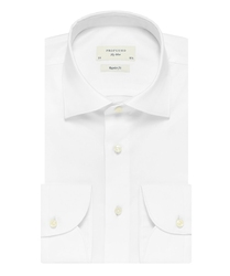 Biała klasyczna koszula męska regular fit, na guziki 43