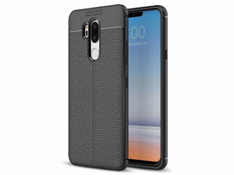 Etui pancerne Alogy leather case LG G7 ThinQ czarne + Szkło