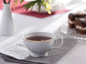 Filiżanka do herbaty porcelana mariapaula złota linia 220 ml