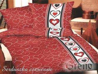 SERDUSZKA Pościel satynowa Gold Line Greno, 2 kolory czerwony - czerwony
