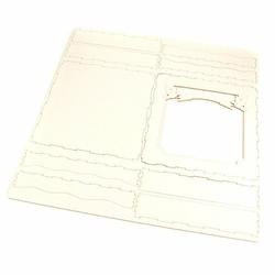Pudełko na kartkę 13,5x13,5 cm GOŁĄBKI