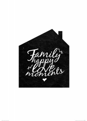 Family happy love moments - plakat