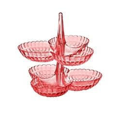 Guzzini - tiffany - kpl 2 potrójnych miseczek na przystawki, różowy - różowy