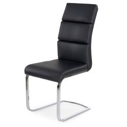 Krzesło rodan ekoskóra czarne