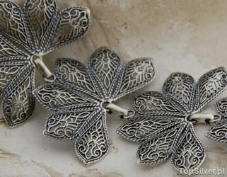 Roksa - srebrna szeroka bransoleta