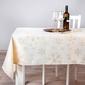 Obrus na stół świąteczny boże narodzenie altom design kremowy  złote płatki śniegu 160 x 300 cm