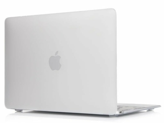 Etui Alogy Hard Case mat mleczne + torba neopren czarny do MacBook Air 2018 13 - Biały || Czarny