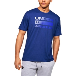 Koszulka męska under armour team issue wordmark ss - niebieski