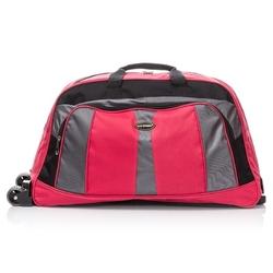 Czerwona uniwersalna torba podróżna z kółkami