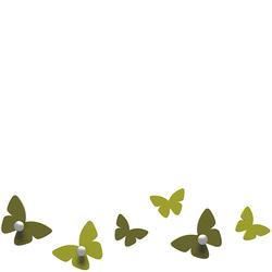 Wieszaczki ścienne Millions of Butterflies CalleaDesign oliwkowo-zielone 50-13-2-54