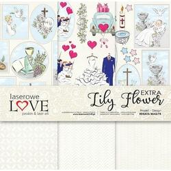 Papier 30,5x30,5 cm Lily Flower EXTRA - zestaw