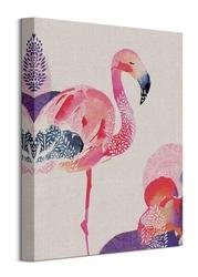 Tropical flamingo - obraz na płótnie