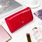 Stylowy portfel damski milano design czerwony - czerwony