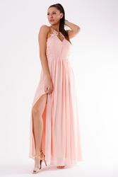 Evalola sukienka pudrowy róż 54007-1