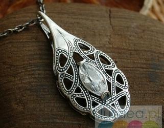 Real - srebrny wisior z kryształem