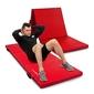 Materac gimnastyczny składany twardy z rzepami 180 x 60 x 5 cm czerwony - marbo sport
