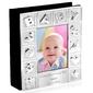 Posrebrzany album na zdjęcia baby pamiątka na chrzest roczek grawer