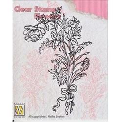 Dekoracyjny stempel akrylowy - kwiaty 1 - 006