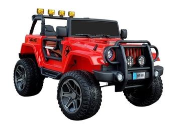 Jeep monster wxe-1688 4x4 czerwony duży dwumiejscowy jeep na akumulator 12v10ah
