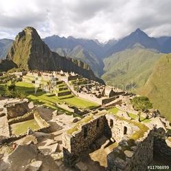 Obraz na płótnie canvas czteroczęściowy tetraptyk machu picchu w pobliżu cusco, peru.
