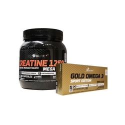Olimp creatine mc 400 caps + gold omega 3 sport edition 120 caps