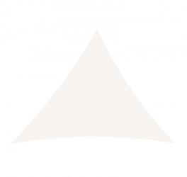 Żagiel przeciwsłoneczny trójkąt zacieniacz 5x5x5 m biały