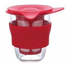 Kubek z zaparzaczem do herbaty 200 ml czerwony Handy Tea Maker Hario