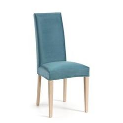 Tapicerowane krzesło freia 46x56 cm niebieskie