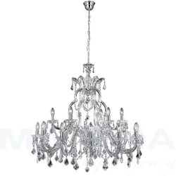 Marietherese lampa wisząca 18 chrom kryształ