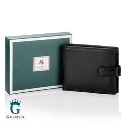 Klasyczny portfel męski z zapięciem visconti mz-5 rfid