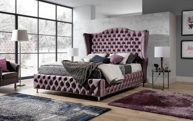 Łóżko tapicerowane glammy 140x200