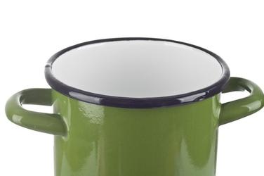 Elopol garnek emaliowany 16 cm wysoki zielony indukcja