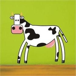 Krowa 27 naklejka samoprzylepna