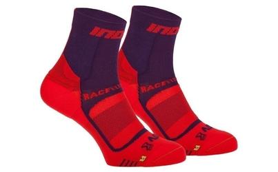 Skarpety inov-8 race elite pro sock. fioletowo-czerwone. dwupak.