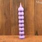 Świeca siedem węzłów, gałkowa, kulkowa, marzeń fioletowa - rozwój duchowy, zdjęcie uroków, relaks