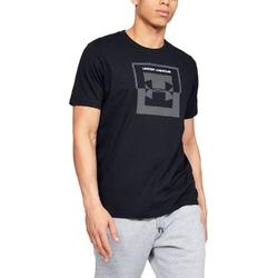 Koszulka męska under armour inverse box logo - czarny