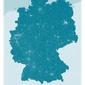 Germany, blue - mapa