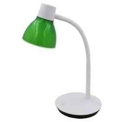 Lampka biurkowa led, zielony klosz, regulowane ramię stuttgart demarkt hi-tech 631036101