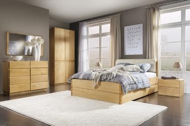 Łóżko z miękkim zagłowiem atlanta