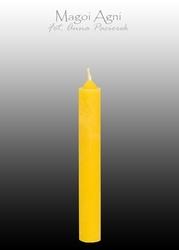 Świeca z wosku 9x1,2cm - żółta