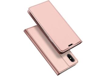 Etui dux ducis skin do apple iphone xxs różowe - różowy