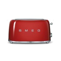 Smeg - toster na 4 kromki - czerwony - czerwony