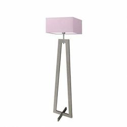 Lampa podłogowa jawa abażur jasny fiolet stelaż popielaty - jasny fiolet