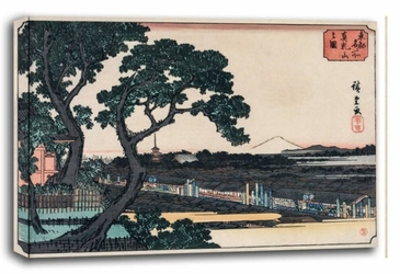Picture of matsuchiyama, hiroshige  - obraz na płótnie